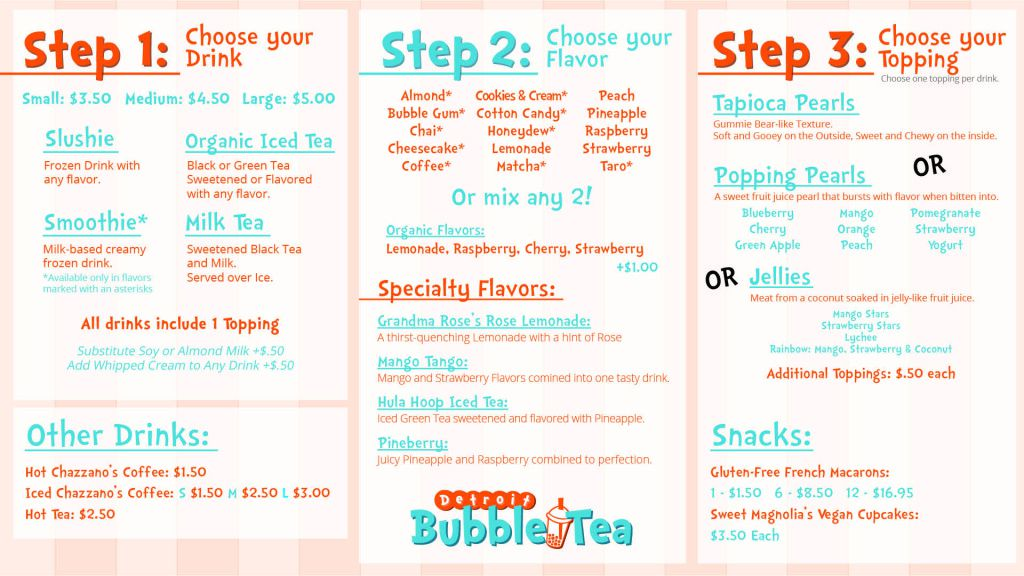 Check Out Detroit Bubble Tea's Menu Ahead of Opening Day