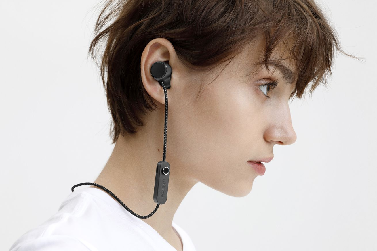 urbanears jakan neckbuds are fully controlled by a single button