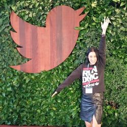 Chen guessed she's the only editor to visit Twitter wearing a Run DMC sweatshirt.