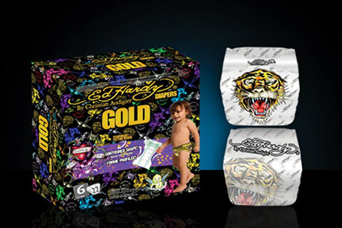 """Yes, these actually exist. Image via <a href=""""http://ifitshipitshere.blogspot.com/2009/07/hookah-diapers-and-smart-cars-ed-hardy.html"""">If It's Hip, It's Here</a>"""