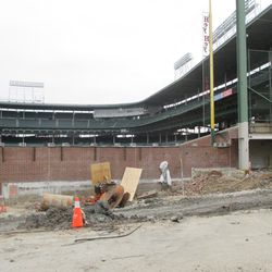 View of the left-field corner on Waveland