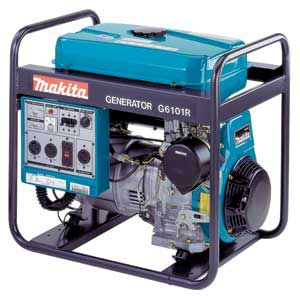 <p>This 4,800W Makita generator ($2,229) has four different receptacles and push-button electric starting.</p>