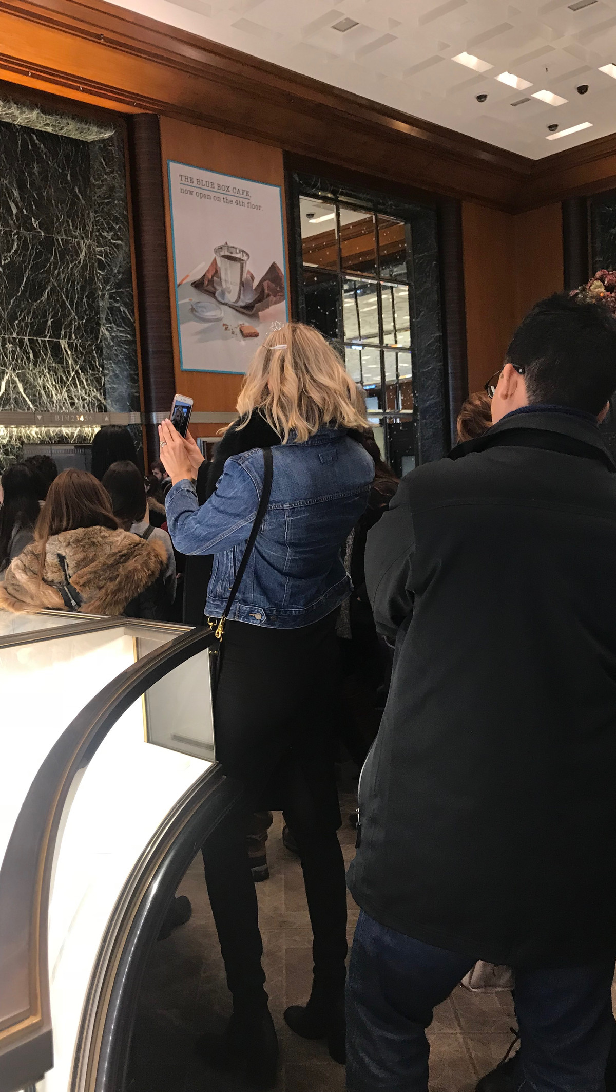 RHoNY's Kristen Taekman in line at the Blue Box Cafe.