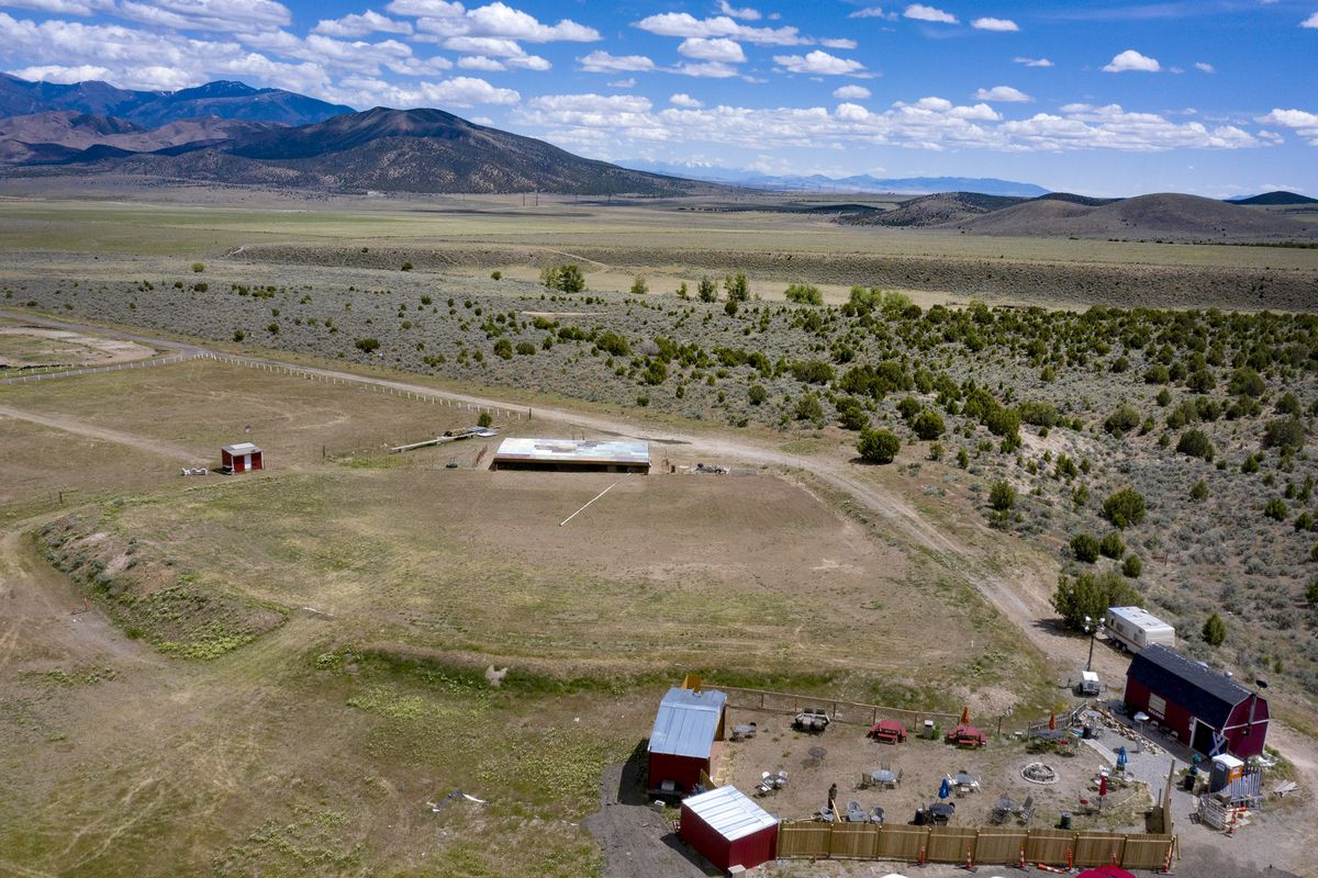 The Amphitheater at Studio Ranch in Tooele County is pictured from the air on Thursday, May 21, 2020. A controversial outdoor concert planned by Utah Business Revival is being moved from Kaysville, but a Tooele County official says it's news to him.
