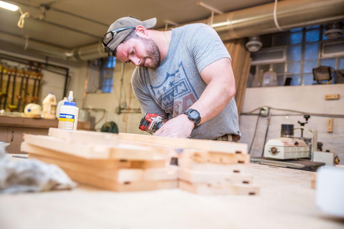John Malecki in his workshop