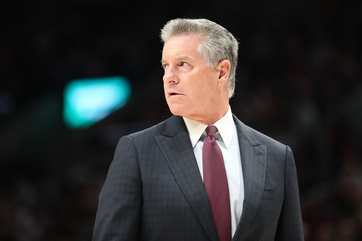 Portland Trail Blazers General Manager Neil Oshley looks on during a game between the Portland Trail Blazers and San Antonio Spurs at Moda Center on February 06, 2020 in Portland, Oregon.