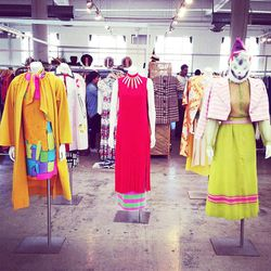 """The show featured an exhibit curated by LA stylist <a href=""""http://instagram.com/shirleykurata""""target=""""_blank"""">Shirley Kurata</a>."""