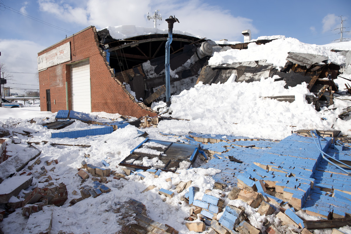 A building collapsed Feb. 16 in the 700 block of West 91st St.