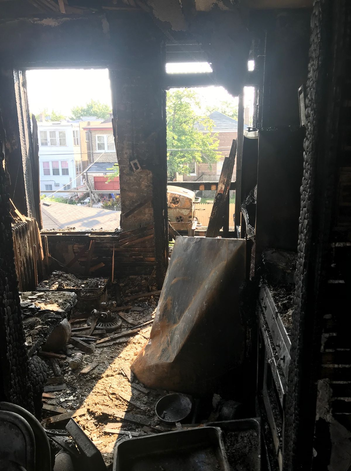 Two people were injured Sunday morning when a fire broke out in to 1600 block of South 50th Court in Cicero. | Cicero Fire Department