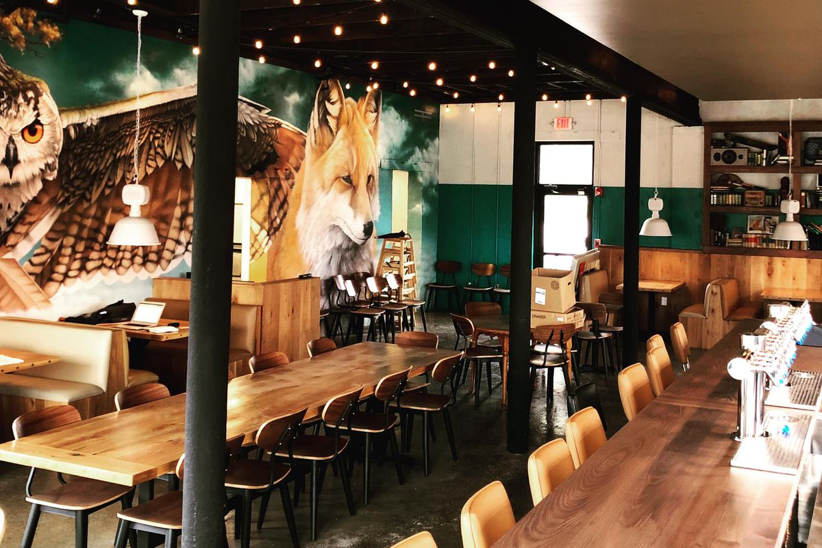 The dining room and bar at the newly opened Companion bar and restaurant on Marietta Road in Bolton Atlanta