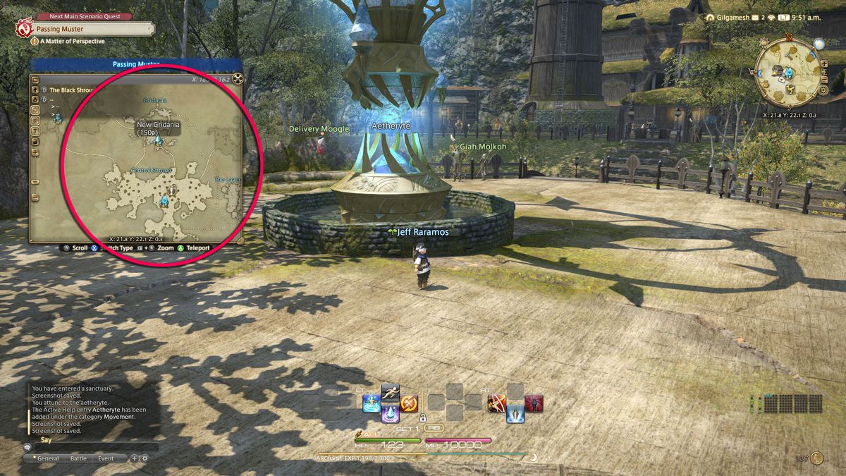 Fast traveling in Final Fantasy 14