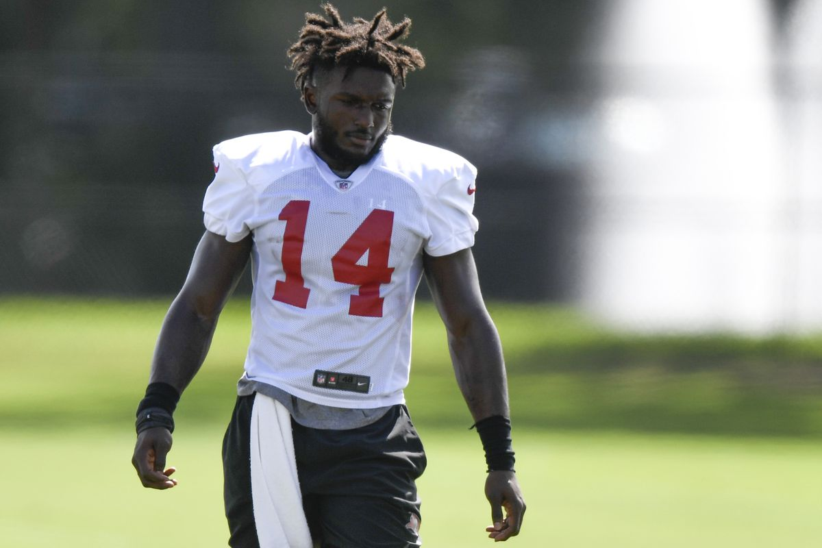 Chris Godwin of the Tampa Bay Buccaneers walks on the field during training camp at Raymond James Stadium on September 08, 2020 in Tampa, Florida.