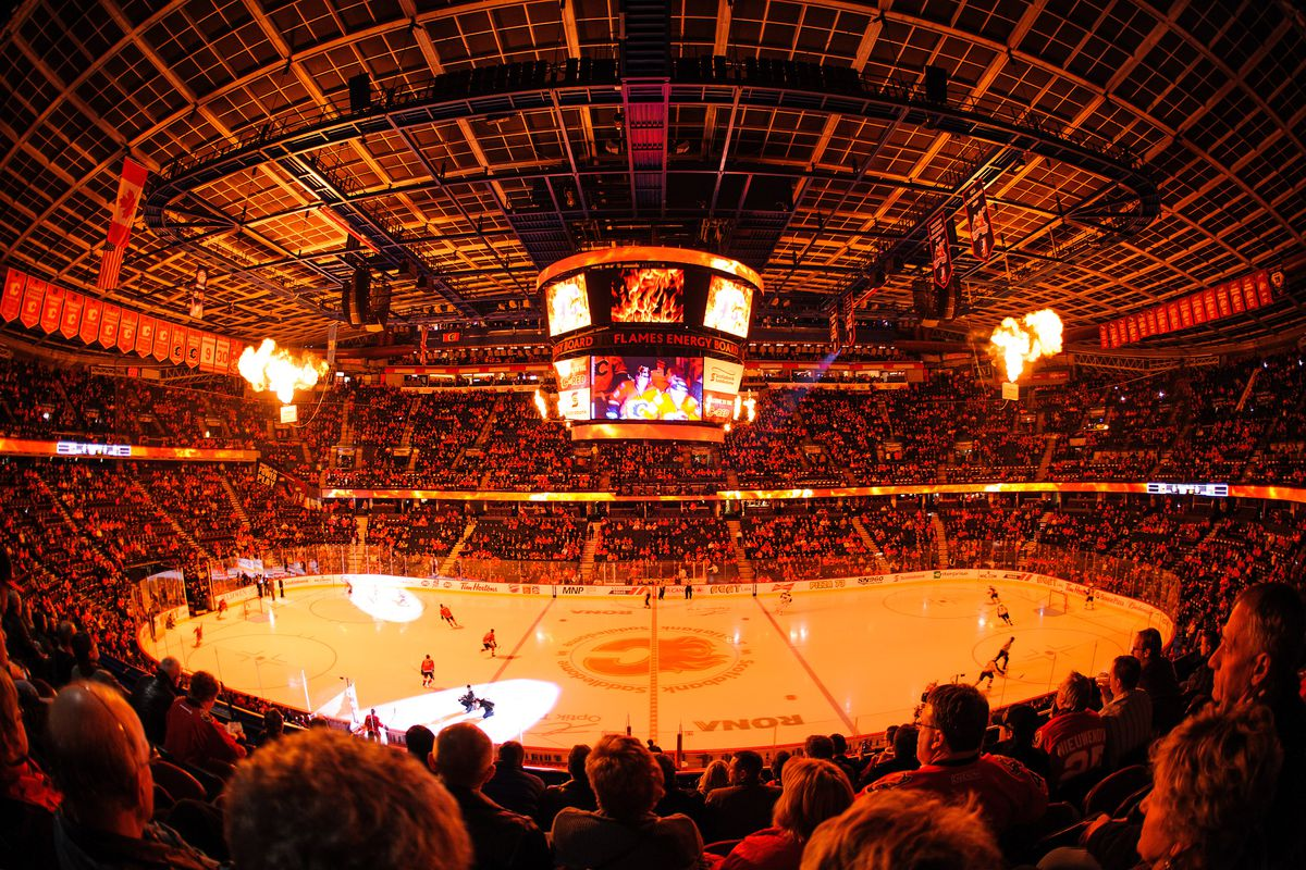 The Saddledome as it should be.