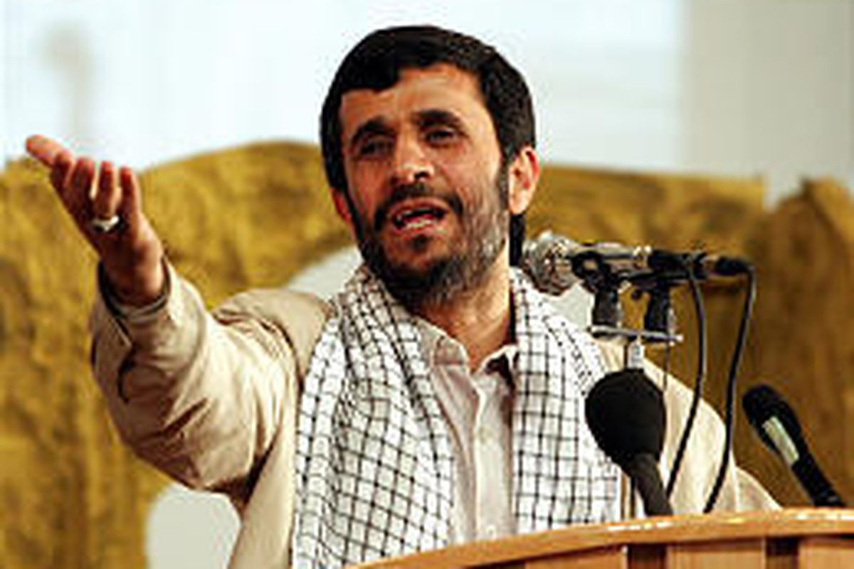 """Iranian President Mahmoud Ahmadinejad told an audience Sunday in Tehran, Iran, that Israel should be """"wiped off the map."""""""