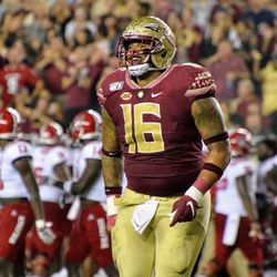 SO DT Cory Durden celebrates after a 4th down stop.