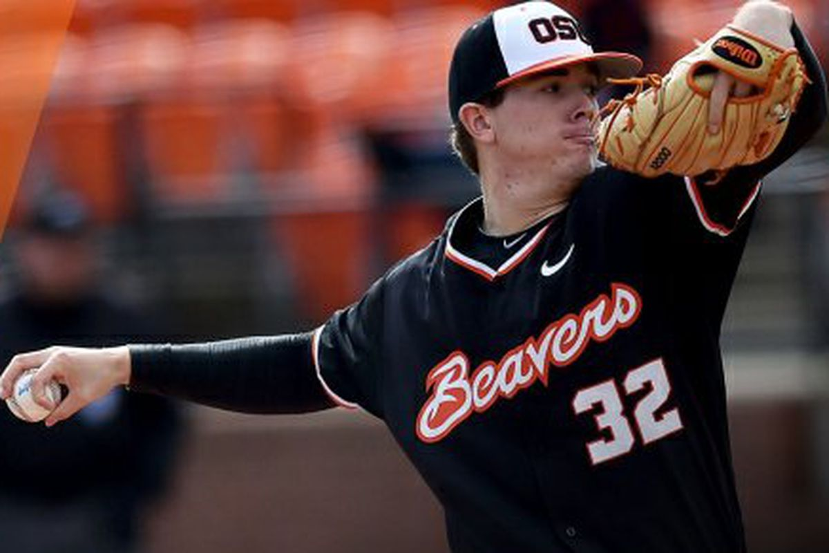 Travis Eckert goes eight solid innings as Oregon State sweeps Arizona State in the opening Pac-12 series