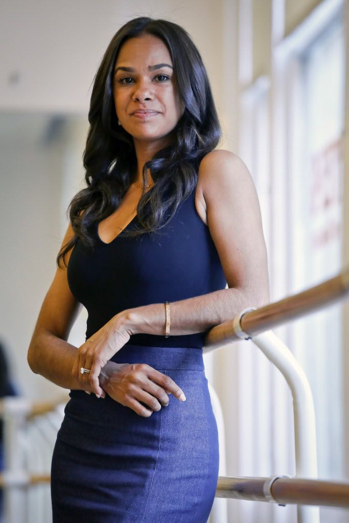"""Misty Copeland poses during an interview ain New York on March 21, 2017. Her new book, """"Ballerina Body: Dancing and Eating Your Way to a Leaner, Stronger, and More Graceful You,"""" compiles her advice for healthy living. (AP Photo/Bebeto Matthews)"""