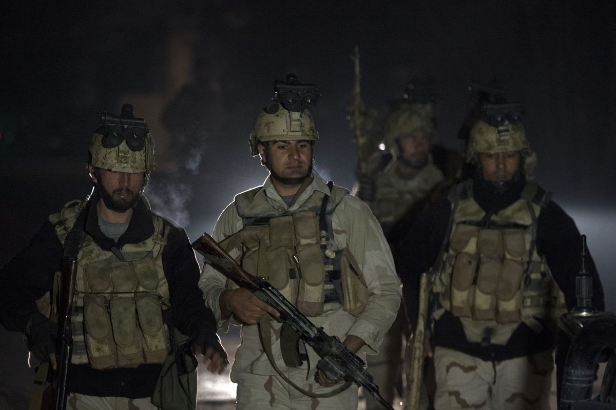 Afghan special forces in Kabul