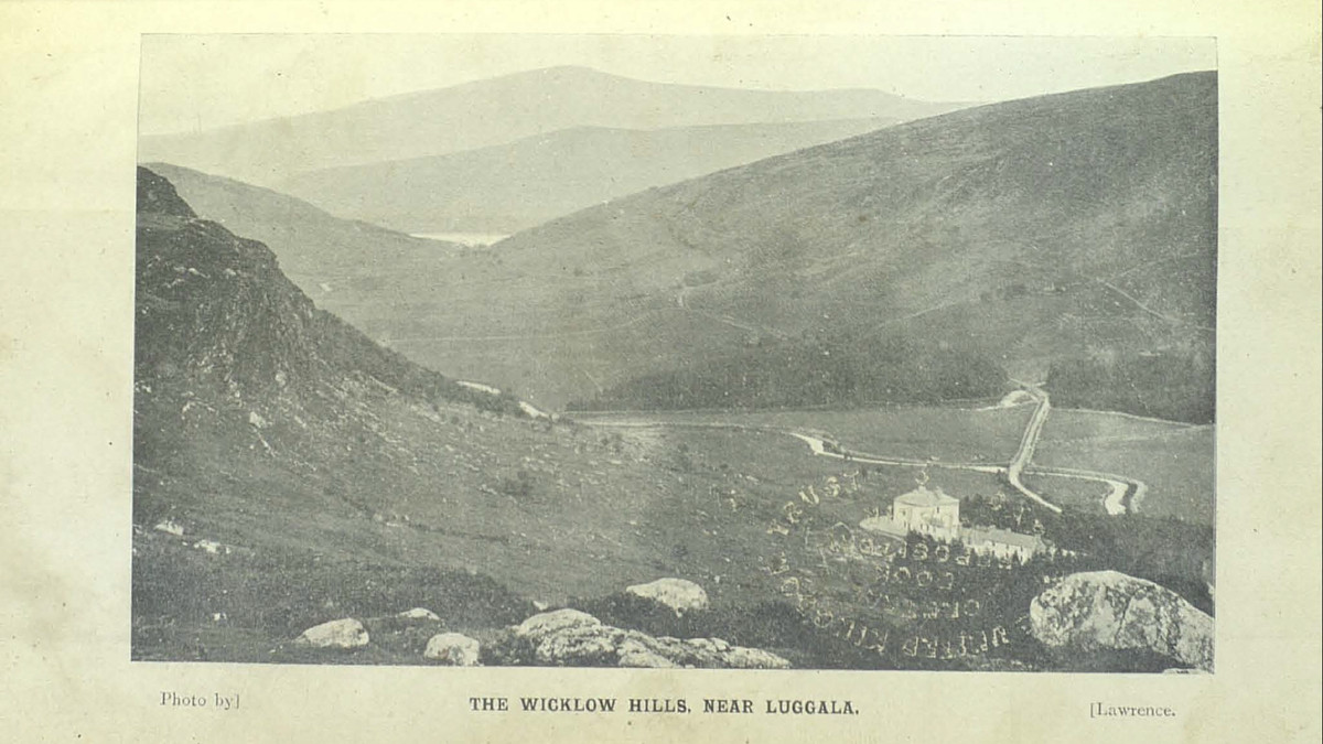 A scene Bulfin would have witnessed among the Wicklow Hills: Luggala Lodge