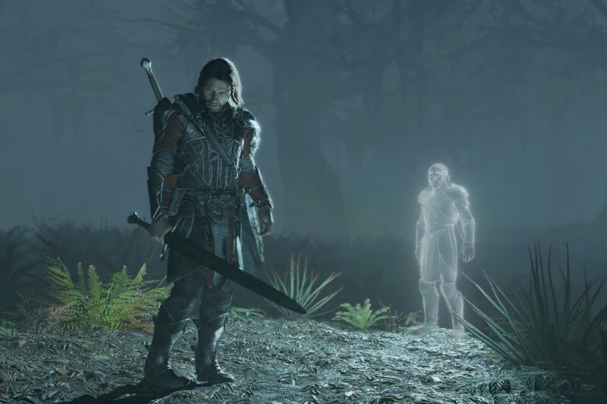 Middle-earth: Shadow of War - Talion with Celebrimbor in background