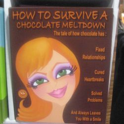 """Chocolate-filled """"books"""" explain how chocolate has fixed your relationships and cured your heartbreaks."""