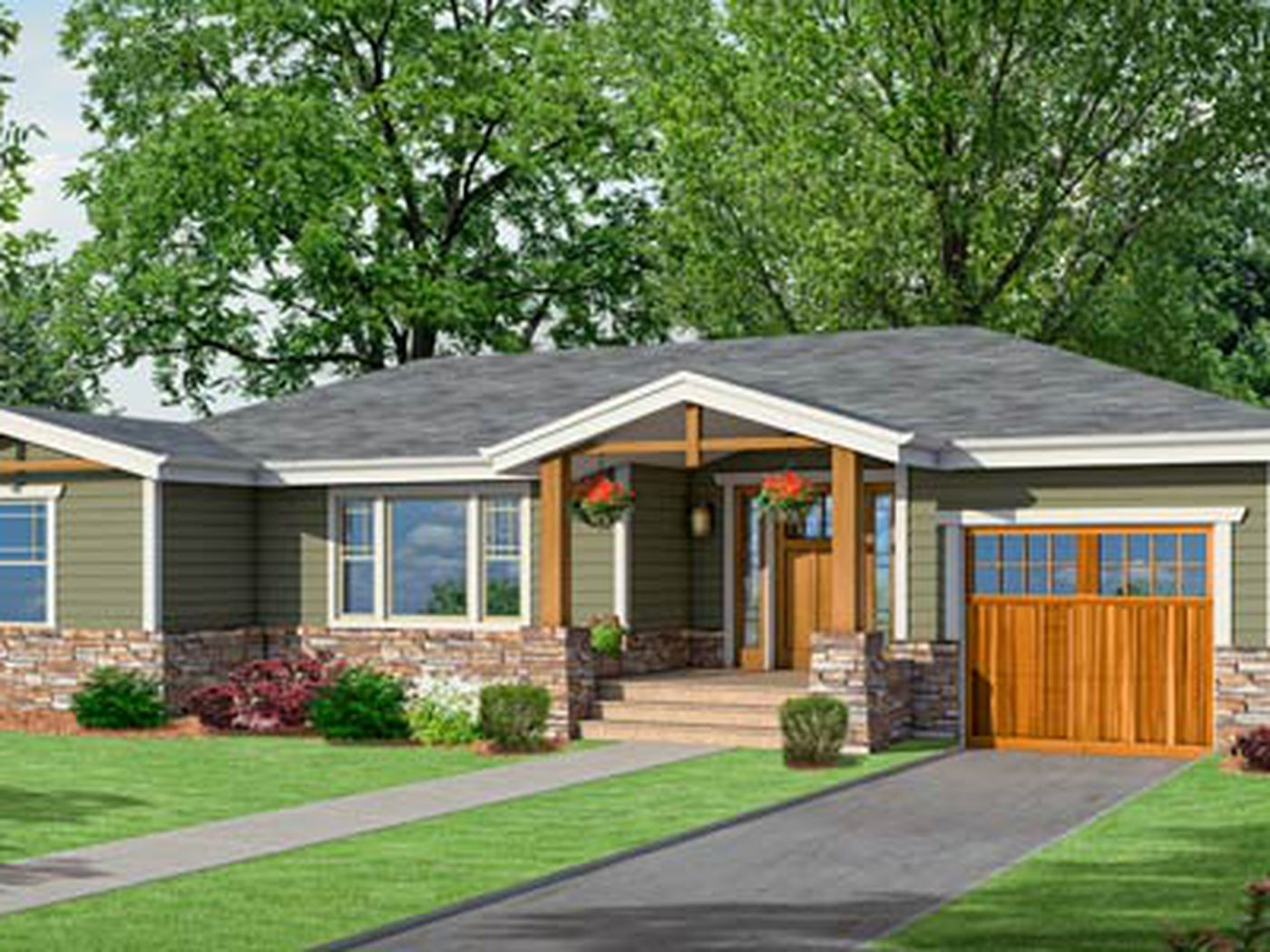 Photoshop Redo Craftsman Makeover For A No Frills Ranch This Old House