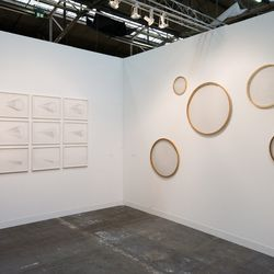 Study for Leaving by Anthony McCall and Serie Concentrico by Hector Zamora