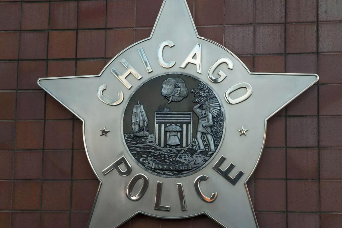 A Chicago Police Department emblem