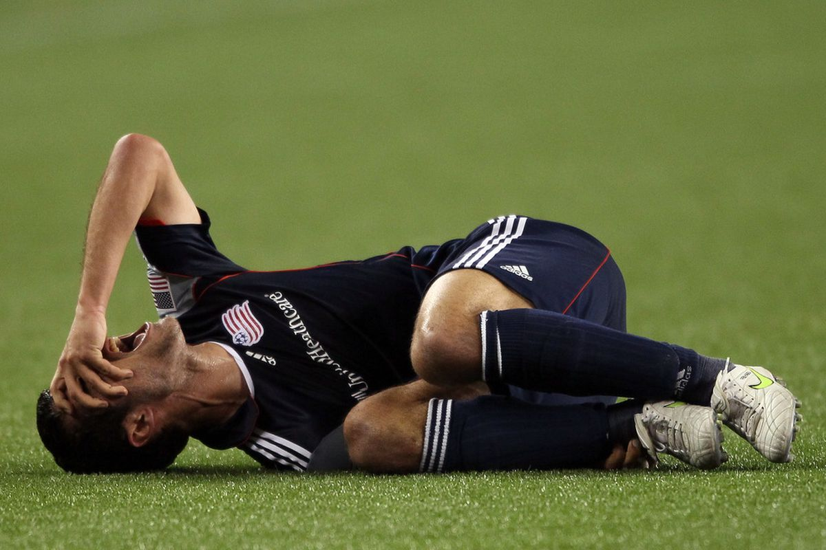 Benny Feilhaber doing what he did best for New England.