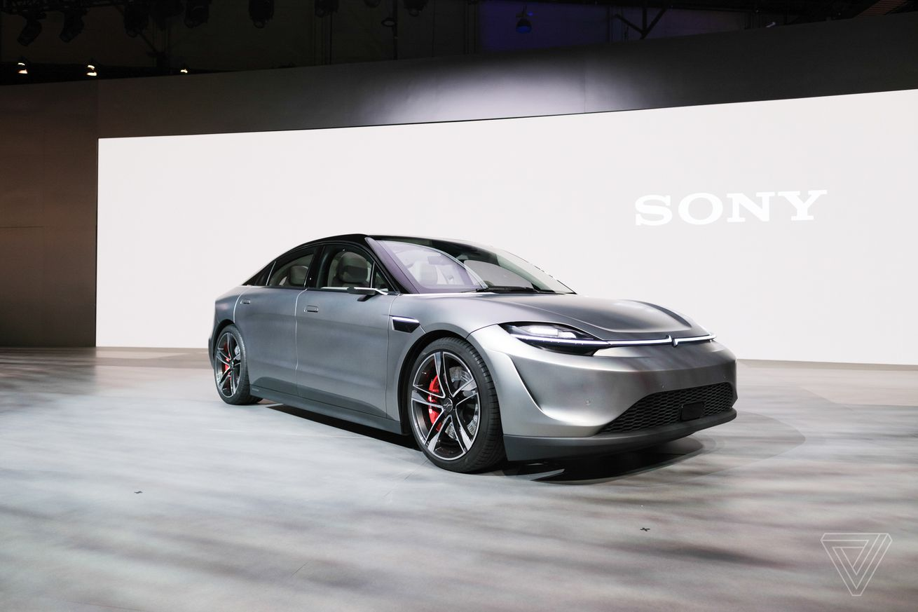 Watch Sony unveil its Vision-S concept car and reveal the new PS5 logo