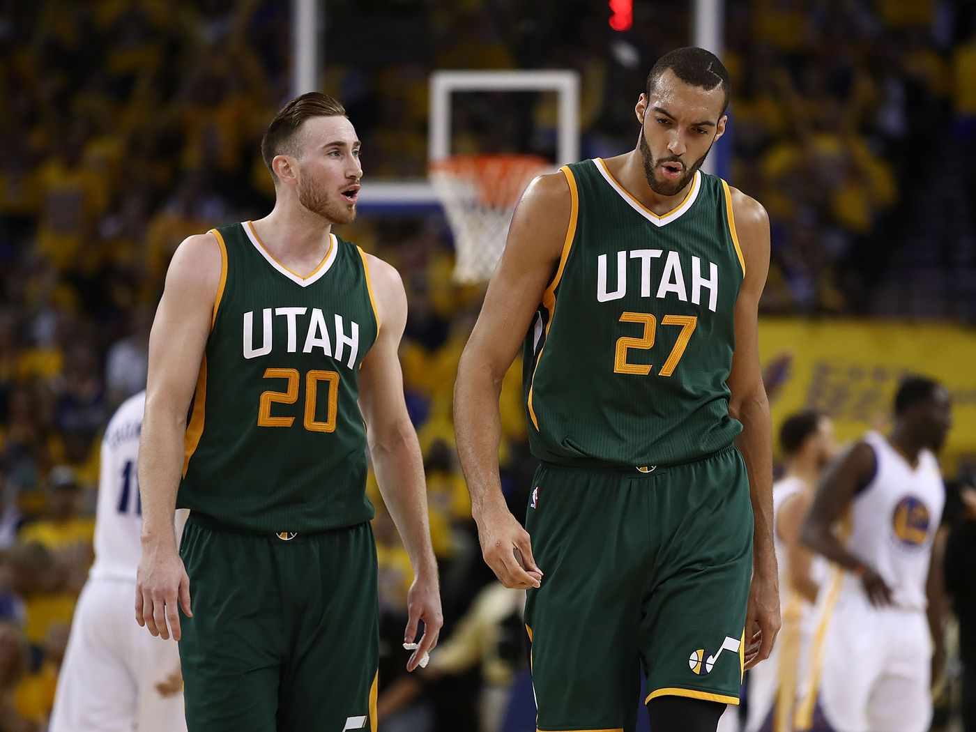 The Downbeat Rudy Gobert Is Over Gordon Hayward Slc Dunk