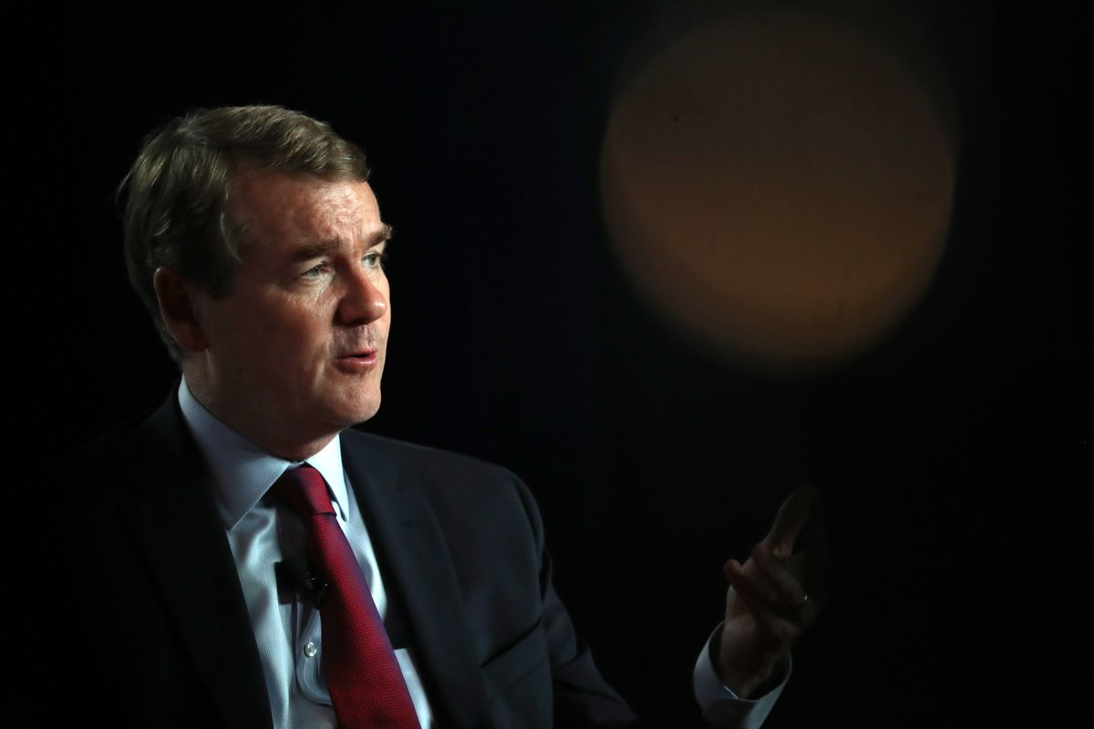 Democratic presidential candidate U.S. Sen. Michael Bennet (D-CO) speaks during the AARP and The Des Moines Register Iowa Presidential Candidate Forum on July 17, 2019 in Cedar Rapids, Iowa.
