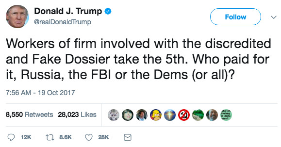 Trump just publicly accused the FBI of having conspired against him