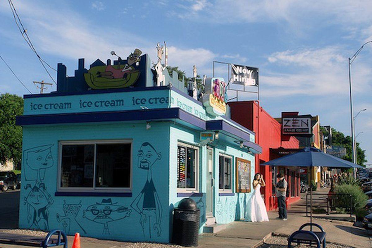 Amy's Ice Cream and Zen Sushi.