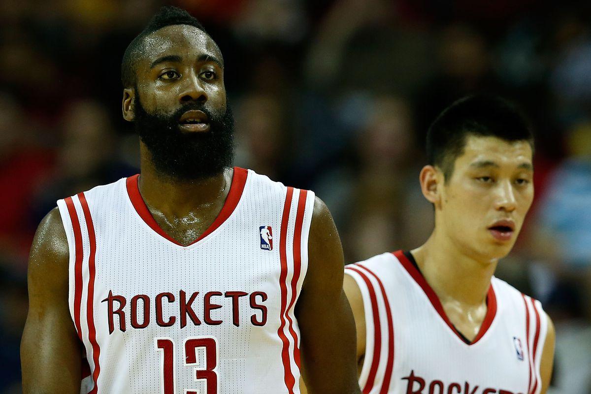 100% authentic dabcc d574d Golden State Warriors at Houston Rockets Q&A: James Harden ...