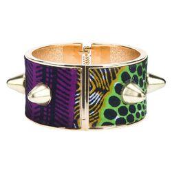 "Studded cuff, <a href=""http://www.farfetch.com/shopping/women/stella-jean-studded-cuff-item-10368550.aspx"">Stella Jean</a>, $130"