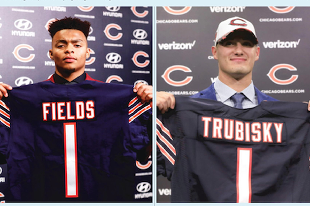 NFL pundits are much more impressed with the Bears moving up to get quarterback Justin Fields than they were in 2017 when the team took Mitch Trubisky.
