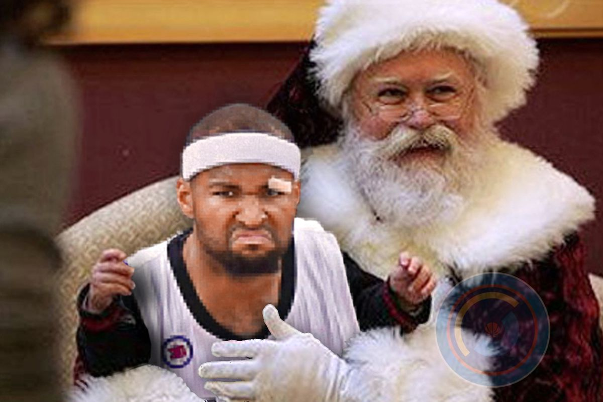 Even DeMarcus probably sat on Santa's lap once.