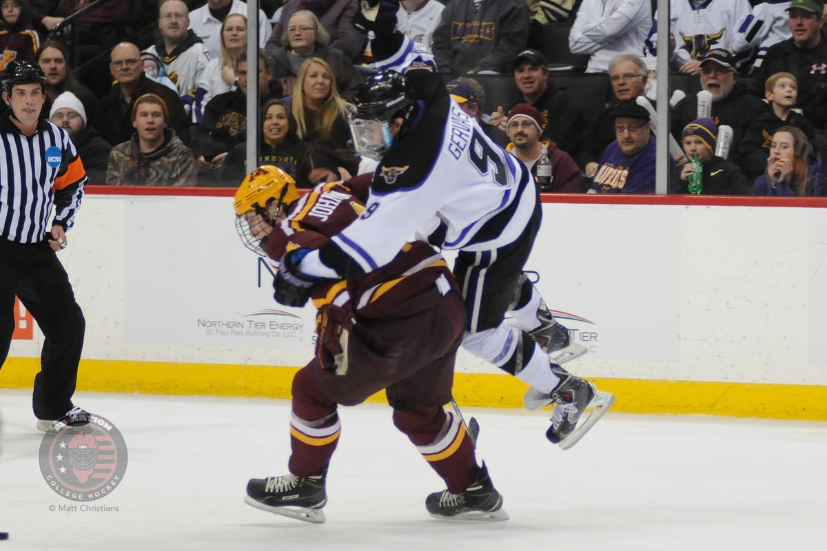 Bryce Gervais scored 20 goals in WCHA play this season