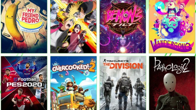 A montage of box covers for the games arriving to Xbox Game Pass in December 2020