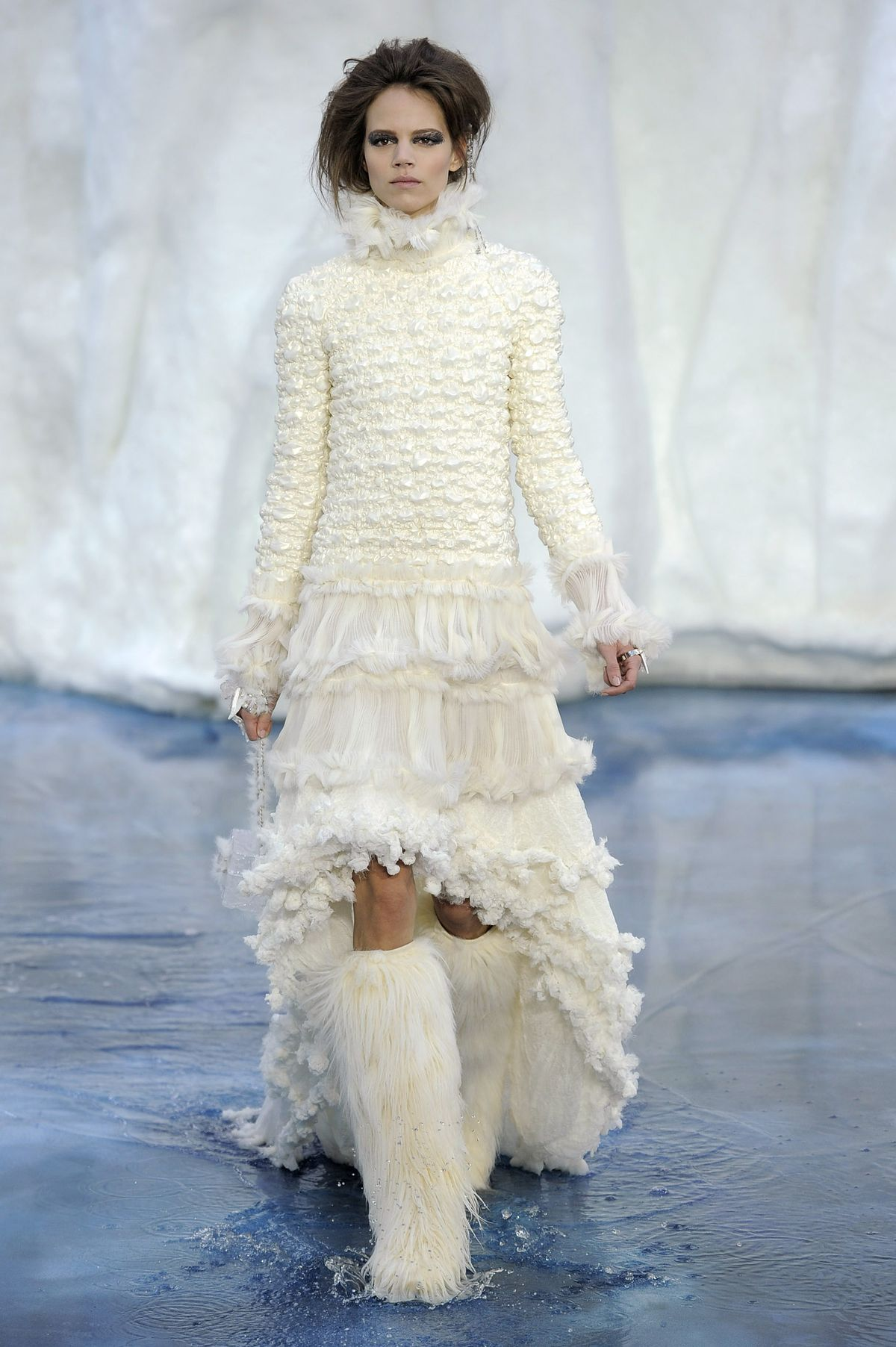 a84ee15a4640 One of Lagerfeld s most memorable Chanel runway shows featured an iceberg  as backdrop. Chris Moore Catwalking Getty Images