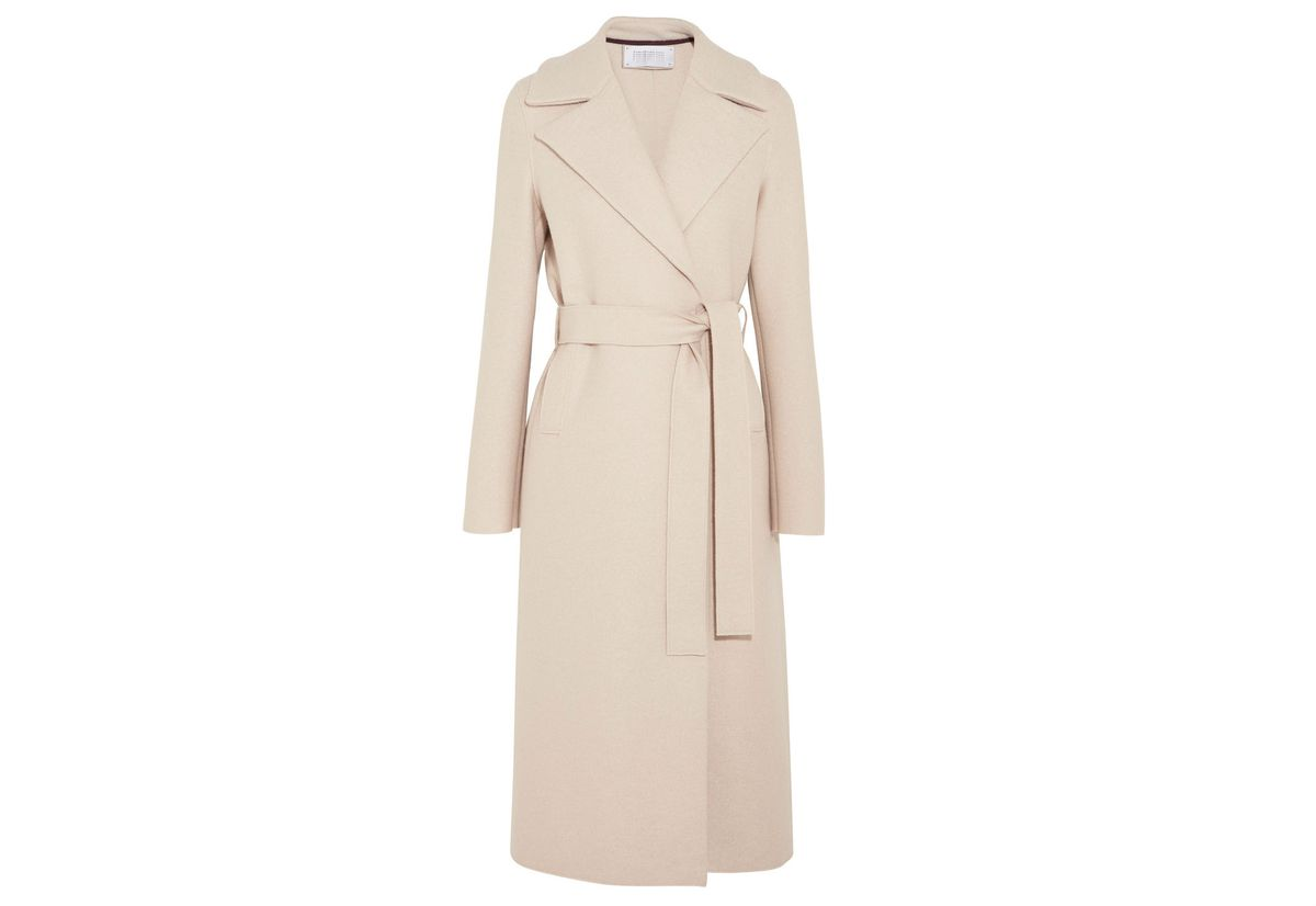 Harris Wharf London Belted wool-felt coat