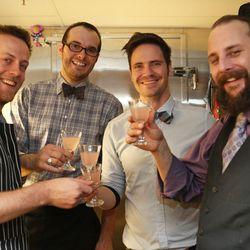 The very hospitable Ste. Ellie bar crew