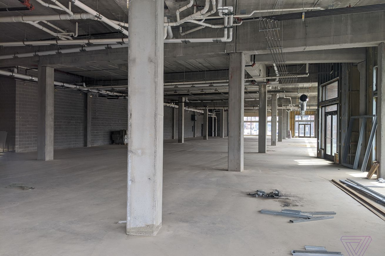 """The empty Foxconn """"innovation center"""" in Eau Claire, Wisconsin, on April 10th, 2020"""