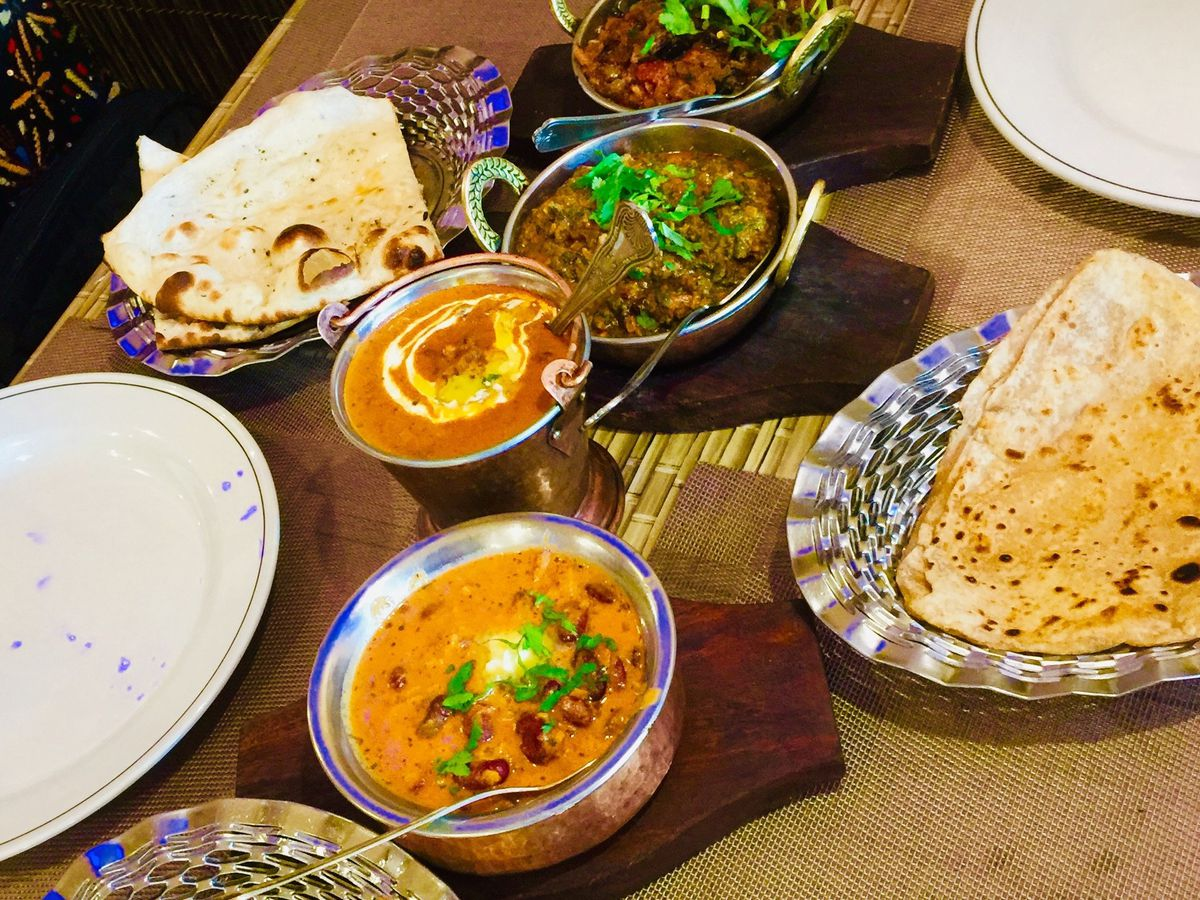 A range of curries and breads at Raunka Punjab Diyan, one of the best north Indian restaurants in north London