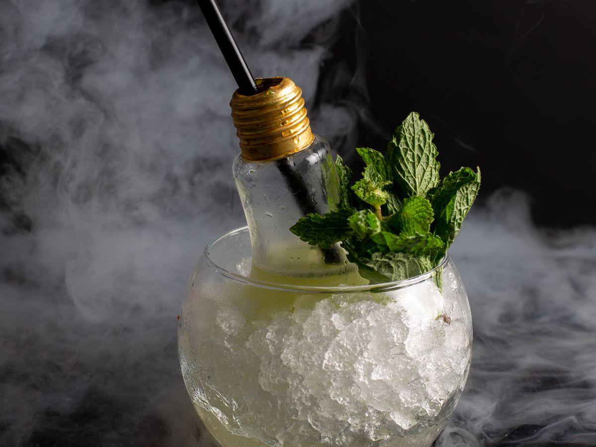 The lightbulb cocktail at Tipsy Alchemist
