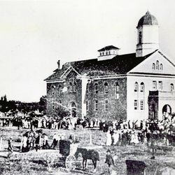 The building that now houses the temple in Vernal was dedicated in 1907 as the Uintah Stake Tabernacle.