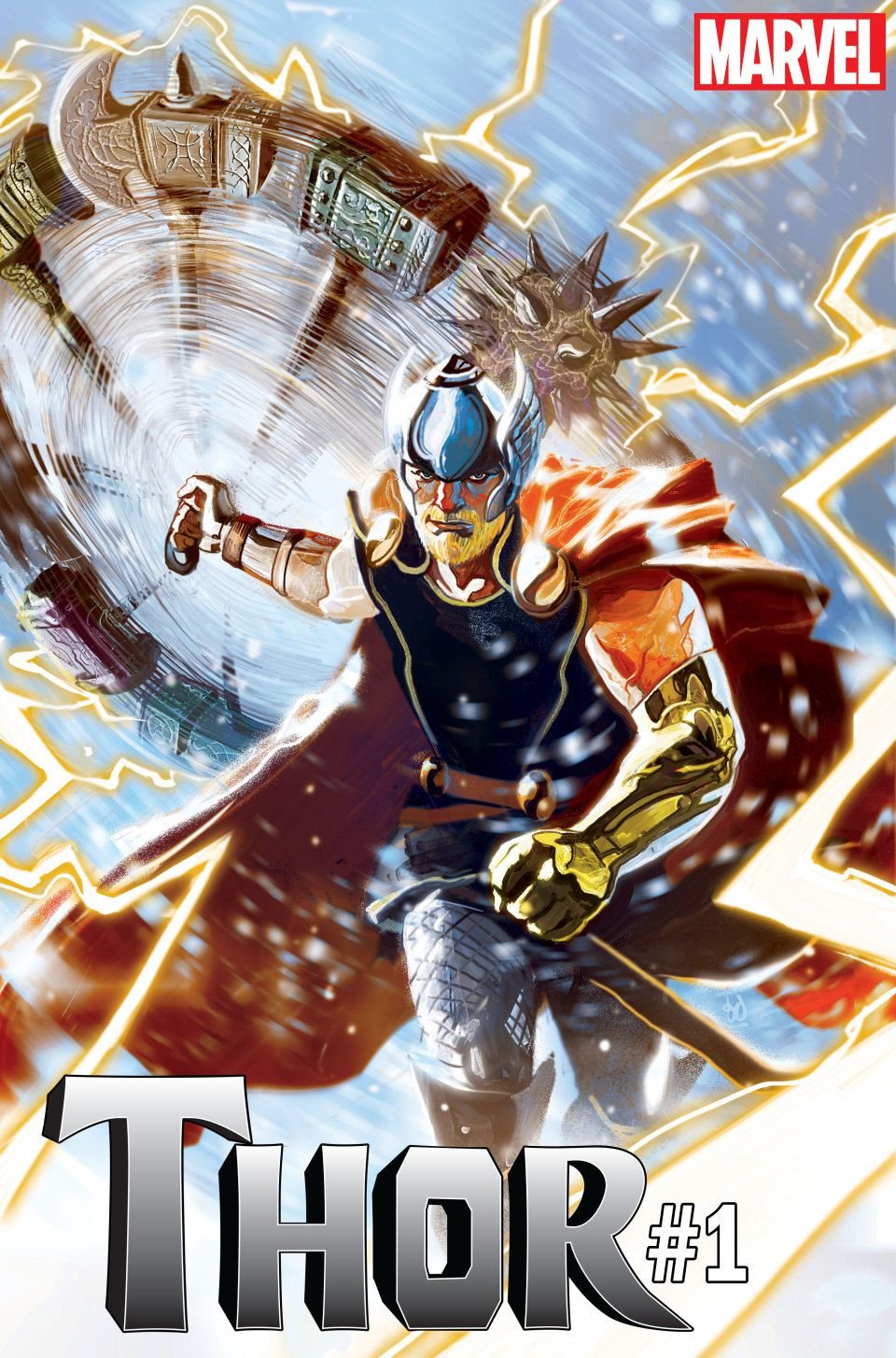 The cover of Thor #1, Marvel Comics, 2018.
