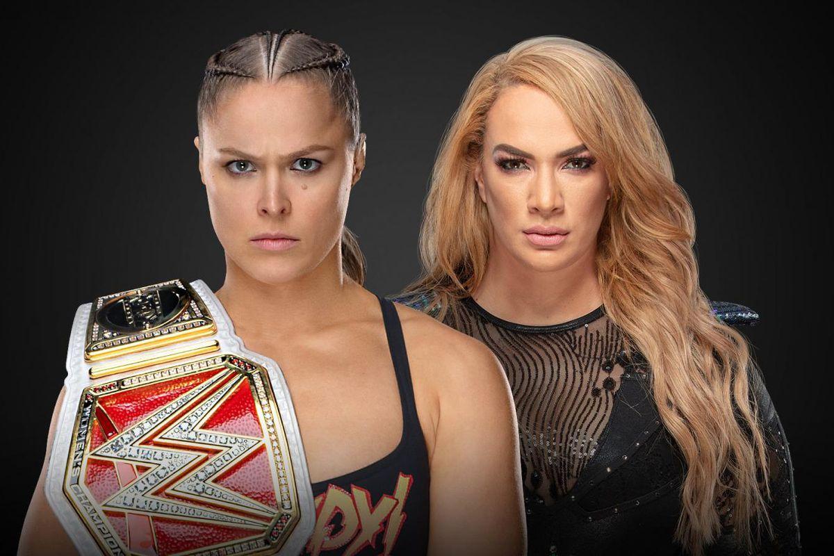 Znalezione obrazy dla zapytania WWE PPV TLC 2018 card nia jax vs ronda rousey