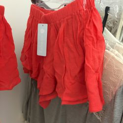Red shorties, $20